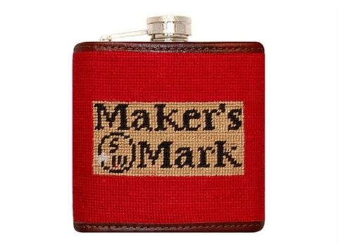 Smathers and Branson Needlepoint Maker's Mark Flask