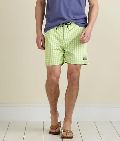 Vineyard Vines Gingham Retro Board Shorts