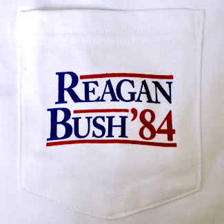 Rowdy Gentleman Reagan Bush 84 Pocket Tee Shirt