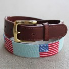 Tucker Blair American Flag Needlepoint Belt