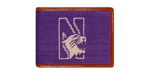 Smathers and Branson Northwester University Needlepoint Wallet