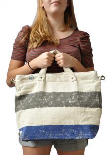United By Blue Dark Grey and Blue Stripe Bag