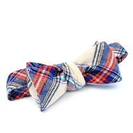 Forage Red and Blue Flannel Bow Tie