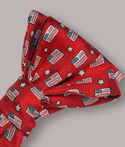 Vineyard Vines Flags & Stars Silk Bow Tie