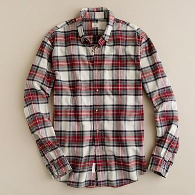 J. Crew Penwyn Tartan Oxford Shirt
