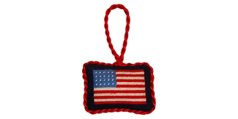 Smathers and Branson America Flag Needlepoint Ornament