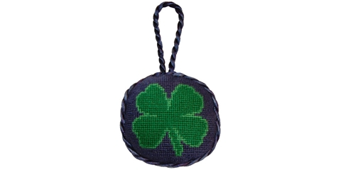 Smathers and Branson Clover Needlepoint Ornament