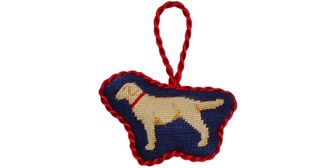 Smathers and Branson Yellow Lab Needlepoint Ornament