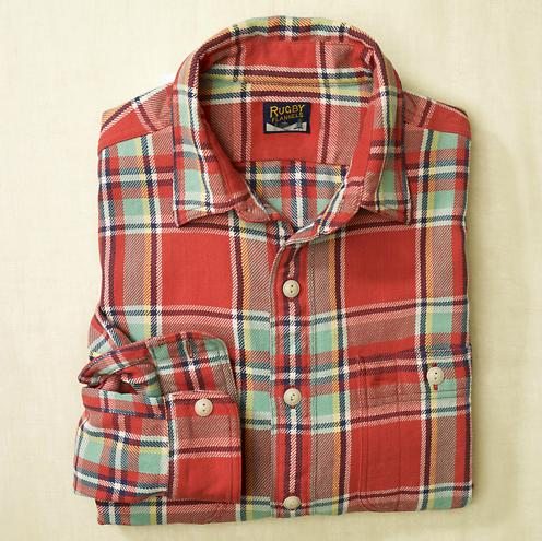 Rugby Red Farrel Flannel Shirt