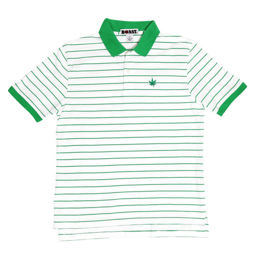 Boast Kelly Green Pinstripe Polo