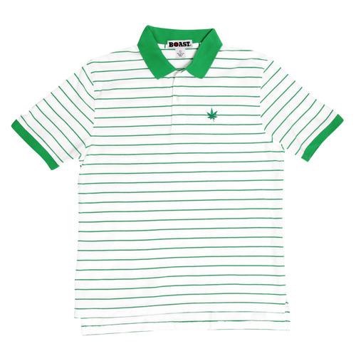 Boast Kelly Green Pinstripe Polo