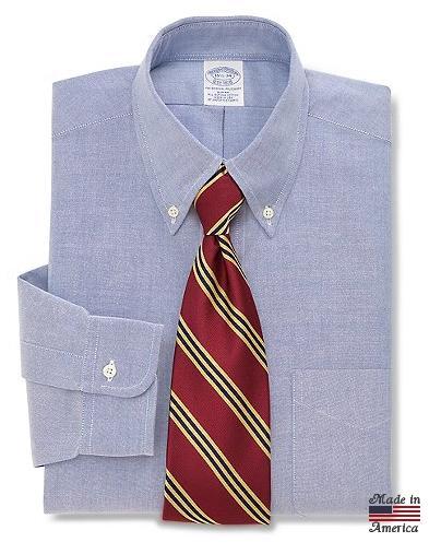 Brooks Brothers Classic All-Cotton Supima Oxford Dress Shirt