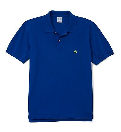 Brooks Brothers Deep Ultramarine Slim-Fit Polo