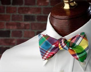High Cotton Ties King Street Madras Bow Tie
