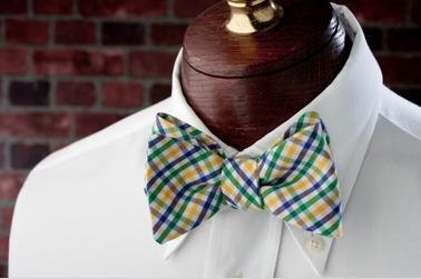High Cotton Ties Mardi Gras Tattersall Bow Tie