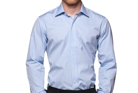 Ledbury Blue Gingham Worker Shirt