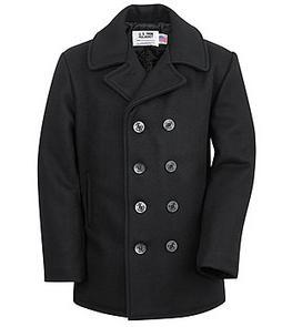 Schott Melton Wool Naval Pea Coat