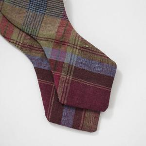 The Cordial Churchman Chadrick Plaid Linen Bow Tie