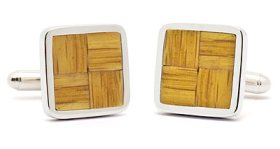 Tokens and Icons Boston Garden Parquet Floor Cuff Links
