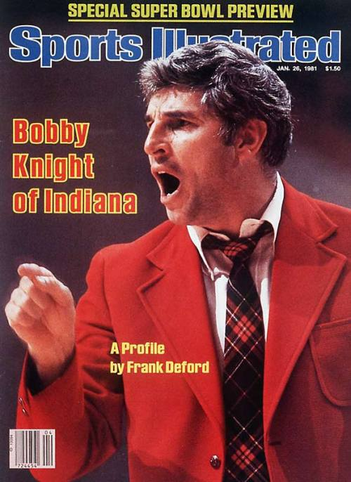 Bob Knight Red Jacket Sports Illustrated Cover