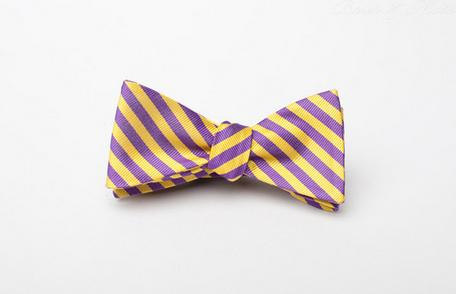 Brier and Moss Lecroix LSU Bow Tie