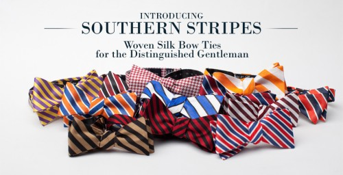 Brier and Moss Southern Stripes Bow Tie Collection