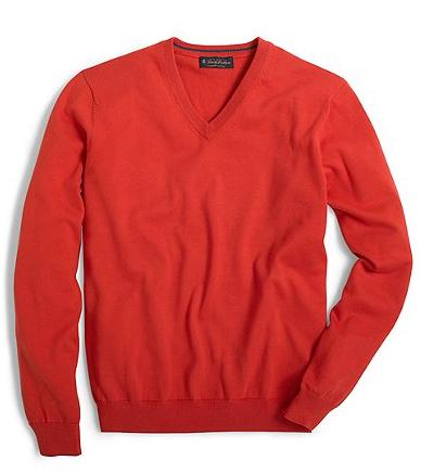 Brooks Brothers Supima V-Neck Sweater