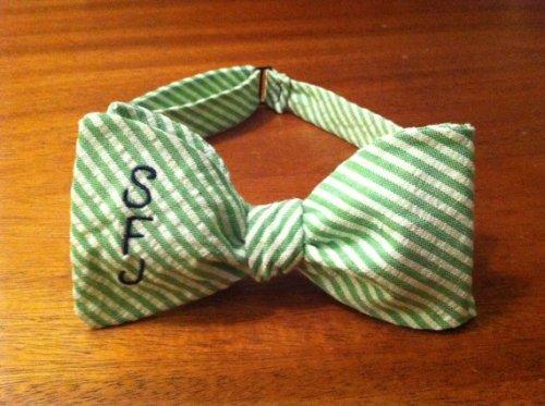Ellis G Designs Monogrammed Bow Tie