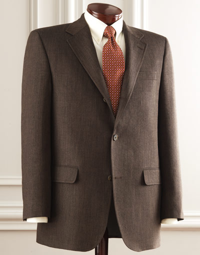 J. Press Presstige Dark Brown Sack Sport Coat