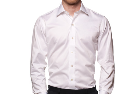 Ledbury White Fine Twill Worker Shirt