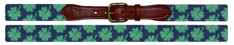 Smathers and Branson Clover Needlepoint Belt