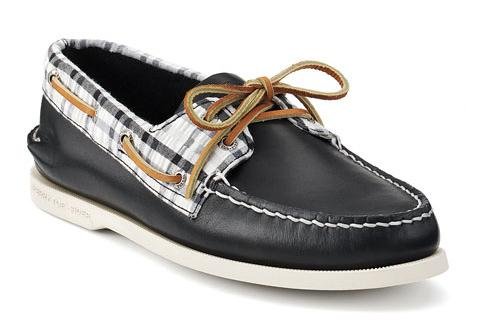 Sperry Top-Sider Cloud Logo Authentic Original 2-Eye Seersucker Boat Shoe