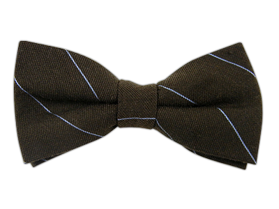 The Tie Bar Brown Wool Stripe Bow Tie