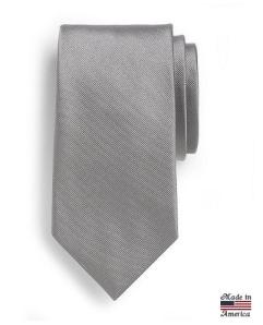 Brooks Brothers Solid Grey Repp Tie