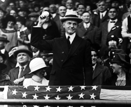 Calvin Coolidge 1928 First Pitch
