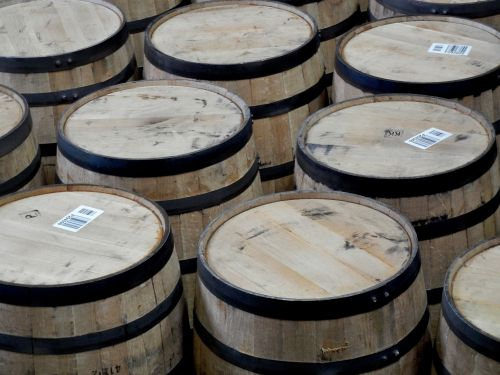 Empty Woodford Reserve Barrels