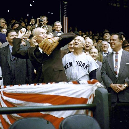 Dwight Eisenhower 1956 First Pitch