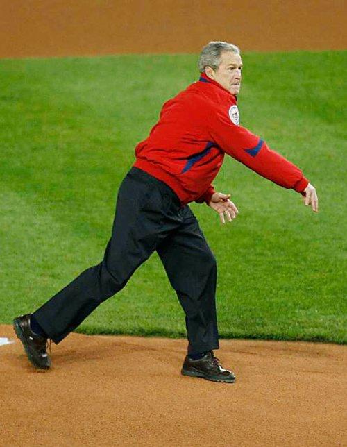 George W. Bush 2008 First Pitch