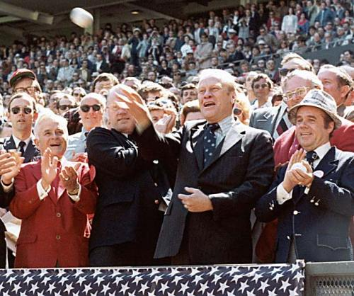 Gerald Ford 1976 First Pitch