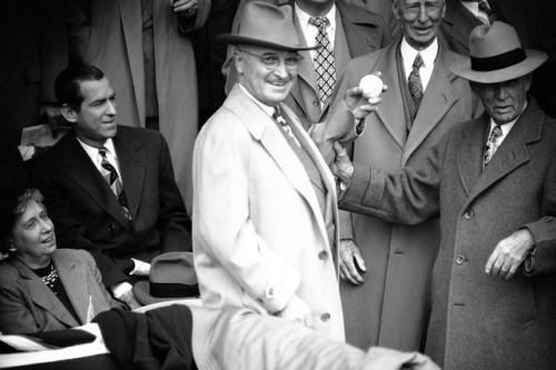 Harry Truman 1949 First Pitch