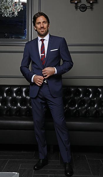 Henrik Lundvquist Navy Suit