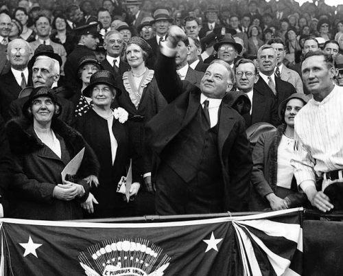 Herbert Hoover 1931 First Pitch