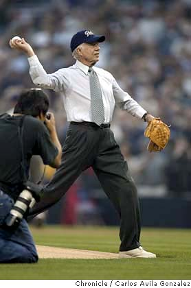 Jimmy Carter 2004 First Pitch