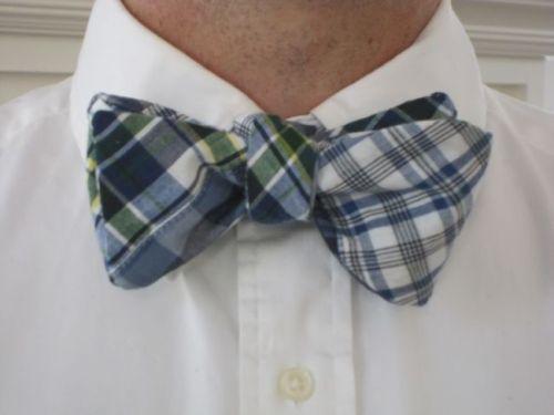 Just Madras Mackinac Island Madras Patchwork Plaid Bow Tie