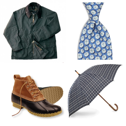 Men's Rainy Day Style