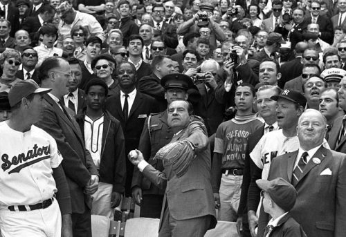 Richard Nixon 1969 First Pitch