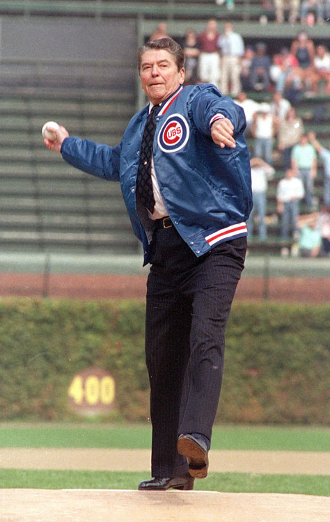 Ronald Reagan 1988 First Pitch