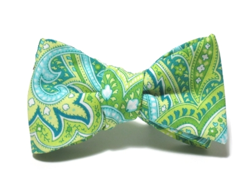 Starboard Clothing Round Bay Paisley Beau Bow Tie