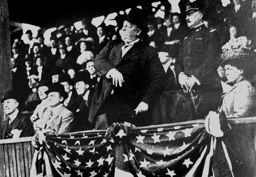 William Taft 1910 First Pitch