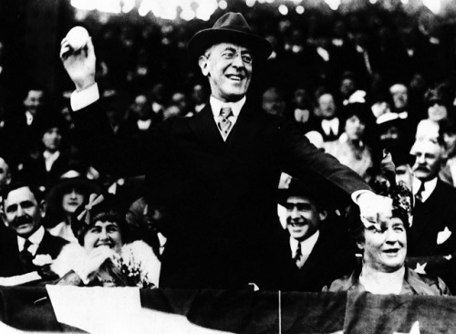 Woodrow Wilson 1916 First Pitch